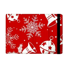 Red Winter Holiday Pattern Red Christmas Apple Ipad Mini Flip Case by AnjaniArt