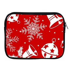 Red Winter Holiday Pattern Red Christmas Apple Ipad 2/3/4 Zipper Cases by AnjaniArt