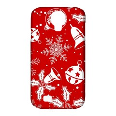 Red Winter Holiday Pattern Red Christmas Samsung Galaxy S4 Classic Hardshell Case (pc+silicone) by AnjaniArt