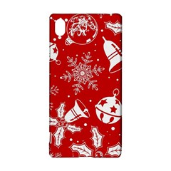Red Winter Holiday Pattern Red Christmas Sony Xperia Z3+ by AnjaniArt