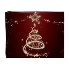 Shiny Christmas Tree Cosmetic Bag (xl) by AnjaniArt