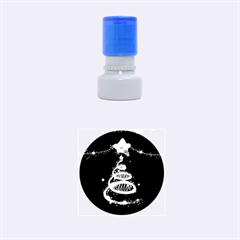 Shiny Christmas Tree Rubber Round Stamps (small) by AnjaniArt