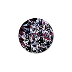 Decorative Abstract Floral Desing Golf Ball Marker (10 Pack) by Valentinaart
