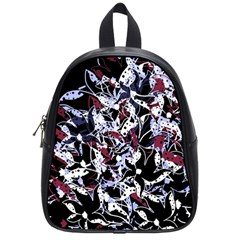 Decorative Abstract Floral Desing School Bags (small)  by Valentinaart