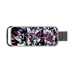 Decorative Abstract Floral Desing Portable Usb Flash (two Sides) by Valentinaart