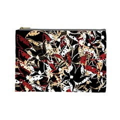 Abstract Floral Design Cosmetic Bag (large)  by Valentinaart