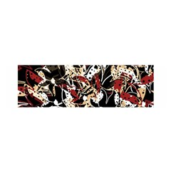 Abstract Floral Design Satin Scarf (oblong) by Valentinaart