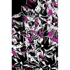 Purple Abstract Flowers 5 5  X 8 5  Notebooks by Valentinaart