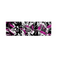 Purple Abstract Flowers Satin Scarf (oblong) by Valentinaart