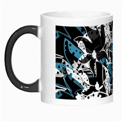 Blue Abstract Flowers Morph Mugs by Valentinaart