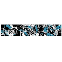 Blue Abstract Flowers Flano Scarf (large) by Valentinaart