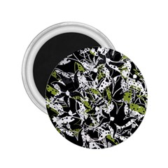 Green Floral Abstraction 2 25  Magnets by Valentinaart