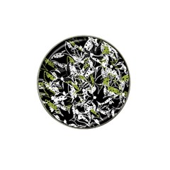 Green Floral Abstraction Hat Clip Ball Marker (10 Pack) by Valentinaart