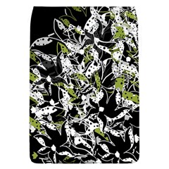 Green Floral Abstraction Flap Covers (l)  by Valentinaart