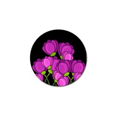 Purple Tulips Golf Ball Marker (4 Pack) by Valentinaart