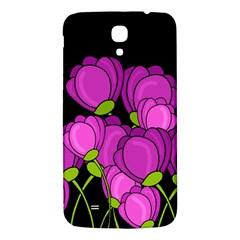 Purple Tulips Samsung Galaxy Mega I9200 Hardshell Back Case by Valentinaart