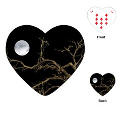 Nature Dark Scene Playing Cards (heart)  by dflcprints