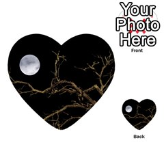 Nature Dark Scene Multi Purpose Cards (heart)  by dflcprints
