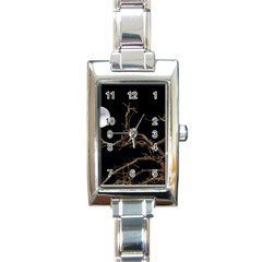 Nature Dark Scene Rectangle Italian Charm Watch by dflcprints