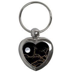 Nature Dark Scene Key Chains (heart)  by dflcprints