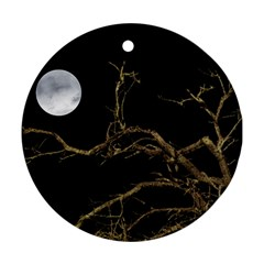 Nature Dark Scene Round Ornament (two Sides)  by dflcprints