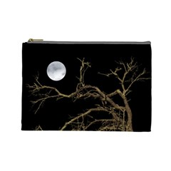 Nature Dark Scene Cosmetic Bag (large)  by dflcprints