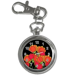 Orange Tulips Key Chain Watches by Valentinaart