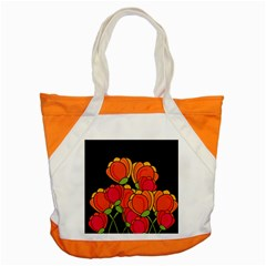 Orange Tulips Accent Tote Bag by Valentinaart