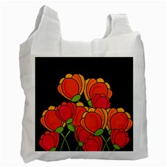 Orange Tulips Recycle Bag (one Side) by Valentinaart