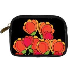 Orange Tulips Digital Camera Cases by Valentinaart