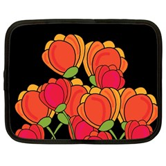 Orange Tulips Netbook Case (xxl)  by Valentinaart