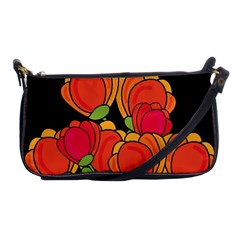 Orange Tulips Shoulder Clutch Bags by Valentinaart