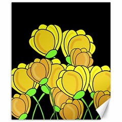 Yellow Tulips Canvas 8  X 10  by Valentinaart