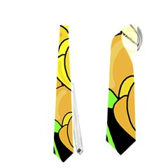 Yellow Tulips Neckties (two Side)