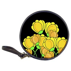 Yellow Tulips Classic 20 Cd Wallets by Valentinaart