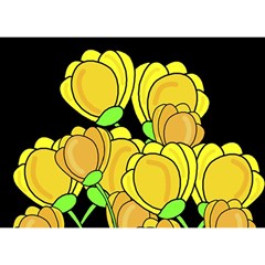 Yellow Tulips Birthday Cake 3d Greeting Card (7x5) by Valentinaart