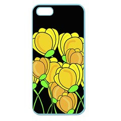 Yellow Tulips Apple Seamless Iphone 5 Case (color) by Valentinaart