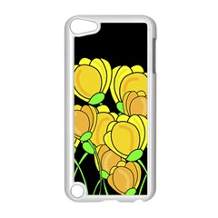Yellow Tulips Apple Ipod Touch 5 Case (white) by Valentinaart