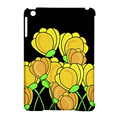Yellow tulips Apple iPad Mini Hardshell Case (Compatible with Smart Cover) by Valentinaart