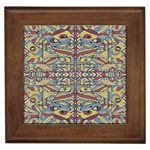 Multicolor Abstract Framed Tiles