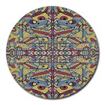 Multicolor Abstract Round Mousepads