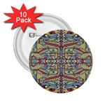 Multicolor Abstract 2.25  Buttons (10 pack)