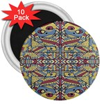 Multicolor Abstract 3  Magnets (10 pack)