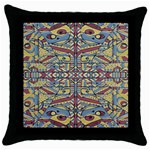 Multicolor Abstract Throw Pillow Case (Black)