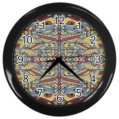 Multicolor Abstract Wall Clocks (black)