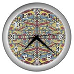 Multicolor Abstract Wall Clocks (Silver)