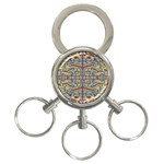 Multicolor Abstract 3-Ring Key Chains
