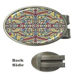 Multicolor Abstract Money Clips (Oval)