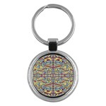 Multicolor Abstract Key Chains (Round)