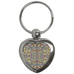 Multicolor Abstract Key Chains (Heart)
